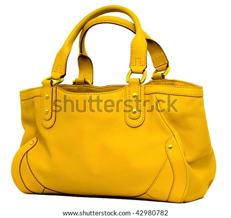 Yellow bag - stock photo