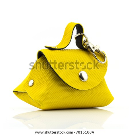 Yellow Bag Isolated On White Background