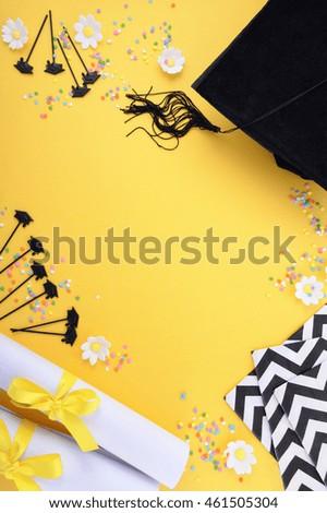 graduation borders black and white