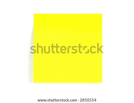yellow blank adhesive sticker isolated on a white background
