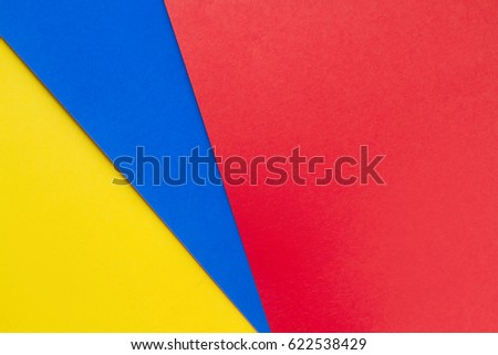yellowblue and red papers backgroundconcept of primary colors - Primary Color Pictures