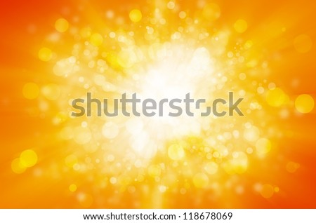 yellow bokeh abstract light background - stock photo