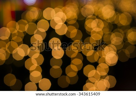 Yellow bokeh background from lamp, Abstract