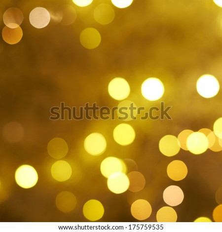 Yellow bokeh lighs as an abstract background composition - stock photo