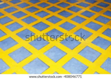Yellow Box Junctions Markings (blur mode) - stock photo