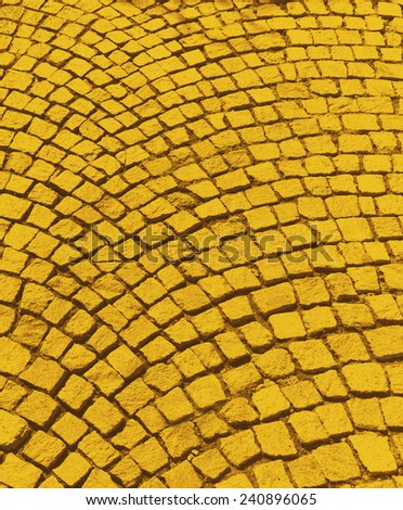 Yellow brick road from The Wizard of OZ - stock photo