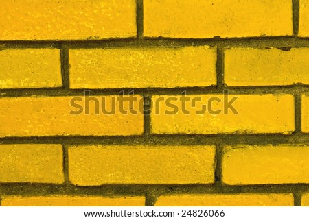 Yellow Bricks Perfect for a Background - stock photo
