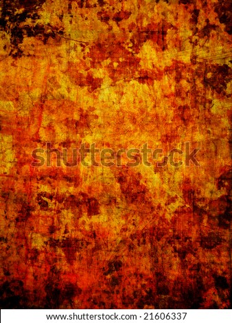 yellow-brown grunge abstract surface background - stock photo