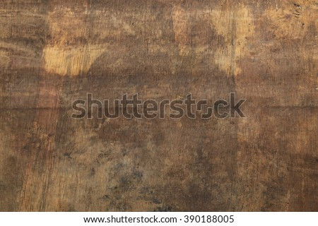 yellow brown rustic wood texture background with scratch - stock photo