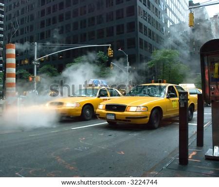 Yellow cab - stock photo