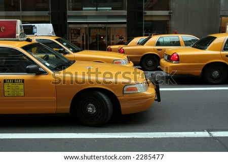 Yellow Cab Taxi - stock photo
