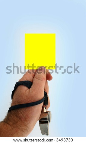 Yellow carded - stock photo