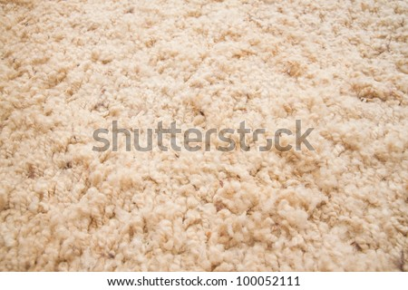 yellow carpet texture, close-up - stock photo