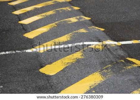 Yellow caution - stock photo