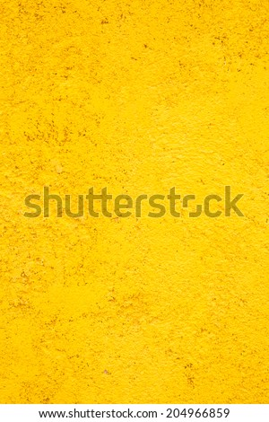 Yellow cement wall of new house