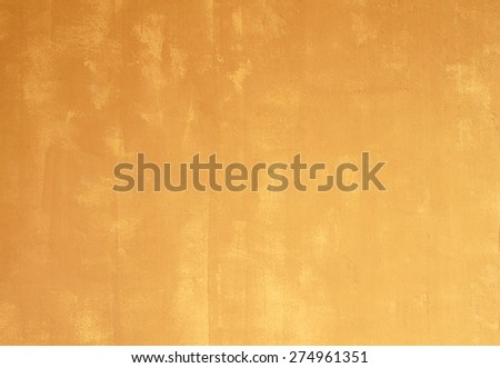 Yellow cement wall, textured background. - stock photo