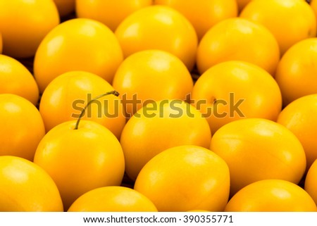 Yellow cherry plums