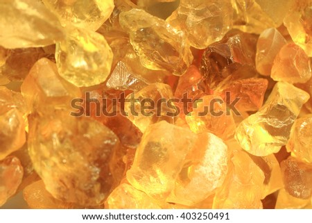 yellow citrine texture as natural mineral background - stock photo