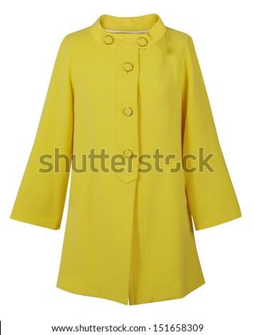 yellow coat - stock photo