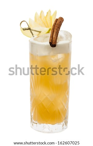 Yellow Cocktail with cinnamon