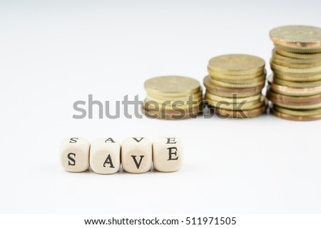 yellow coins stacking with finance business concept.