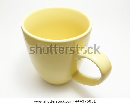yellow cup - stock photo