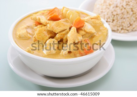 Yellow Curry Chicken - stock photo