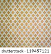 Yellow damask background - stock photo
