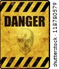 Yellow danger warning sign - stock photo