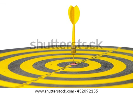 Yellow dart with target arrows ,dart with target arrows ,business concept of target marketing. Success or Goal symbol. - stock photo