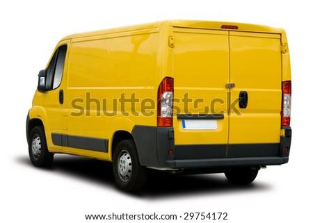 Yellow Delivery Van - stock photo