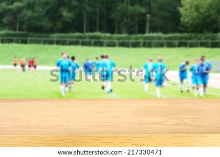 yellow desk and sport  - stock photo