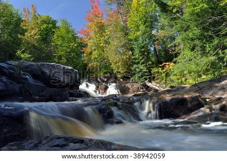 Yellow Dog Falls, Michigan - stock photo
