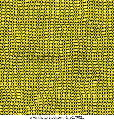 Yellow dots on black background