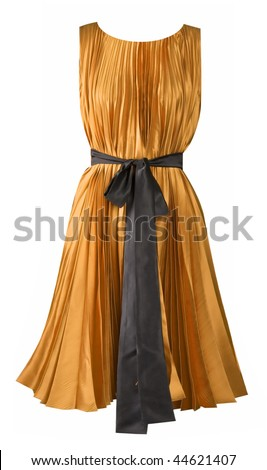 yellow dress - stock photo