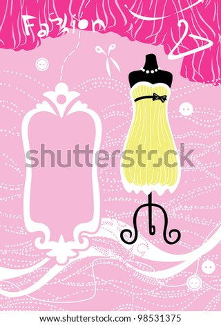 Yellow dress on a mannequin - stock photo