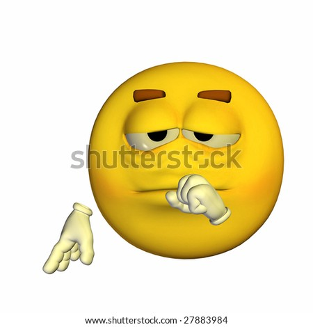 Yellow Emoticon Guy - Tired Expression