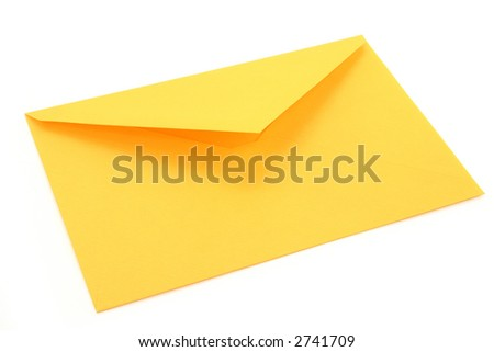 yellow envelope, concept of communication