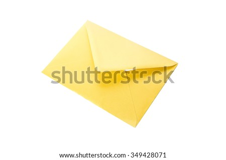 yellow envelope isolated on white background