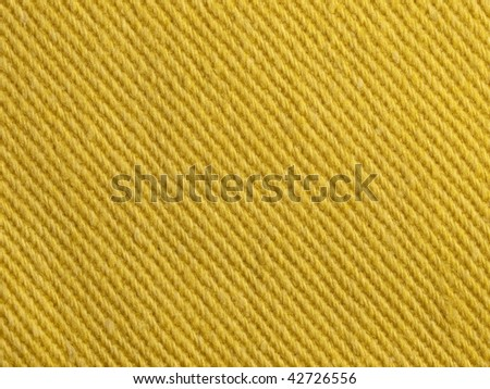 Yellow fabric texture - stock photo