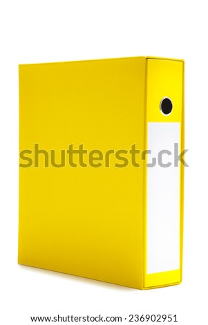 Yellow File Holder, or Business Folder - stock photo