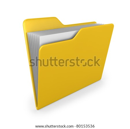 Yellow folder - 3d render