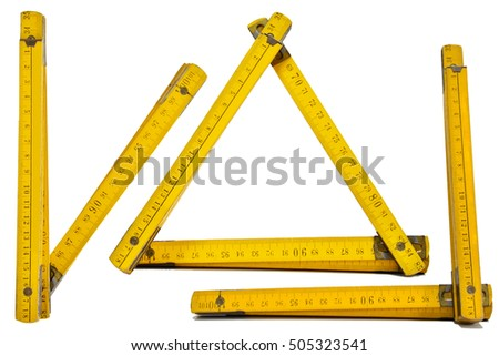 Architect Toolsfolding Ruler Scale White Paper Stock Photo ...
