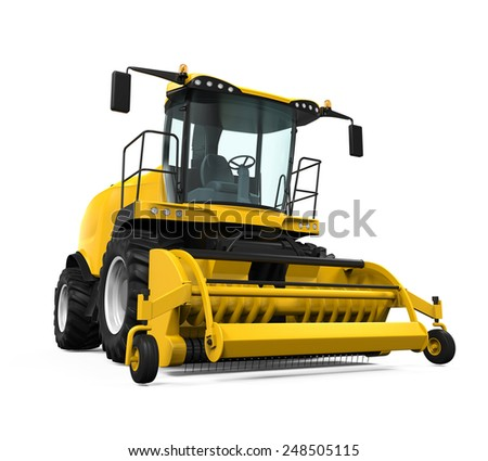 Yellow Forage Harvester - stock photo