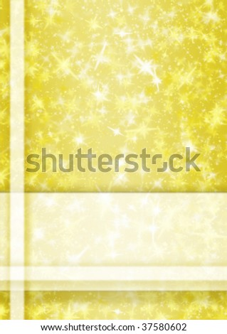 yellow frame with space for text or image - stock photo
