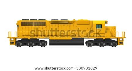 Yellow Freight Train - stock photo
