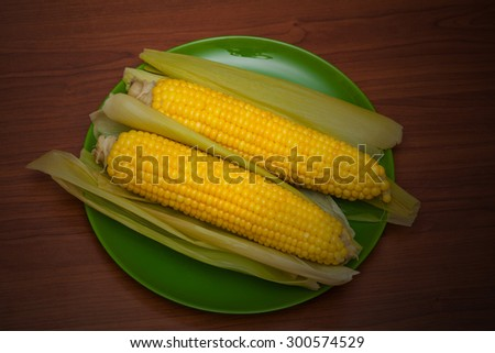 yellow fresh corn - stock photo