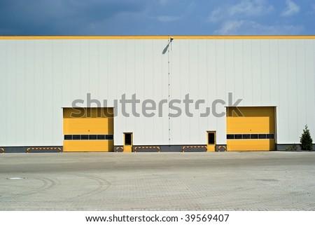 yellow gates - stock photo