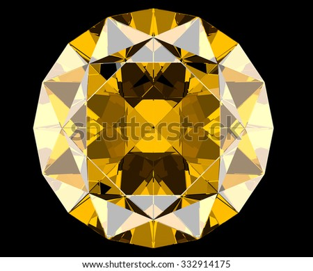 yellow gems - stock photo