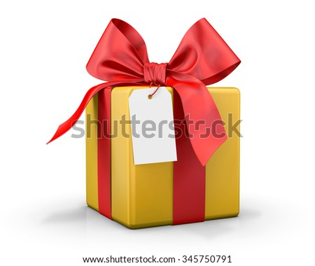 yellow gift box 3d  render
